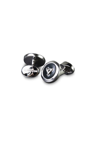 Black Button Cufflinks Van Laack Full