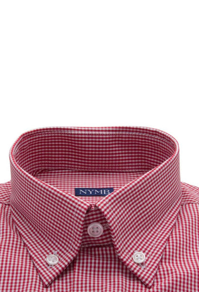Lamington Red Check Shirt NYMB Collar
