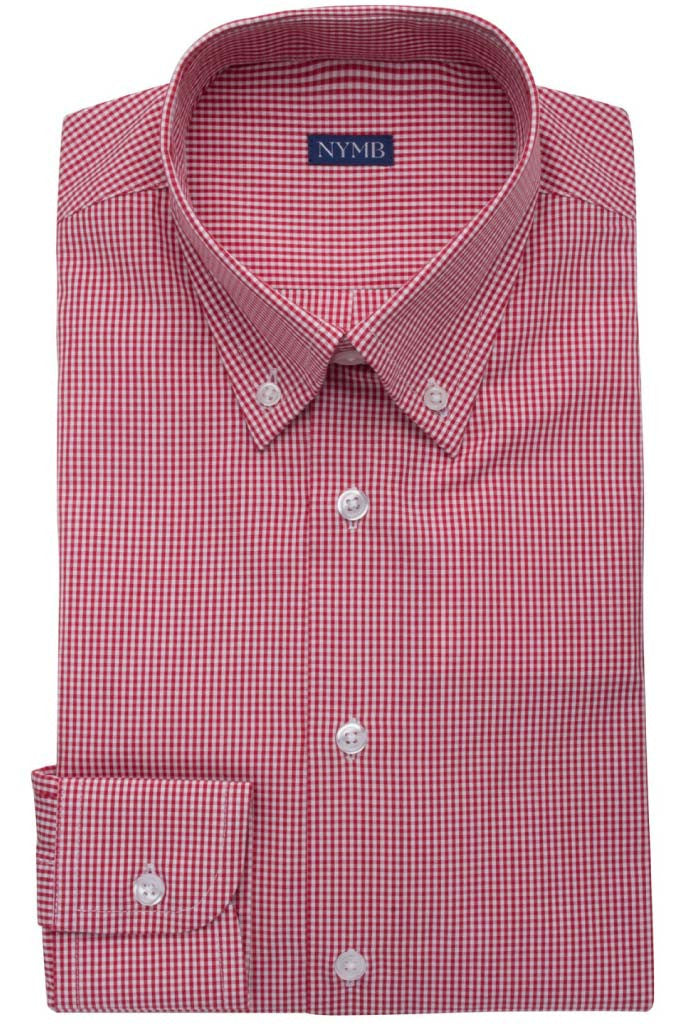 Lamington Red Check Shirt NYMB Folded