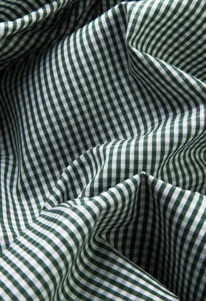 Onex Green Check Shirt Artigiano Fabric Folded