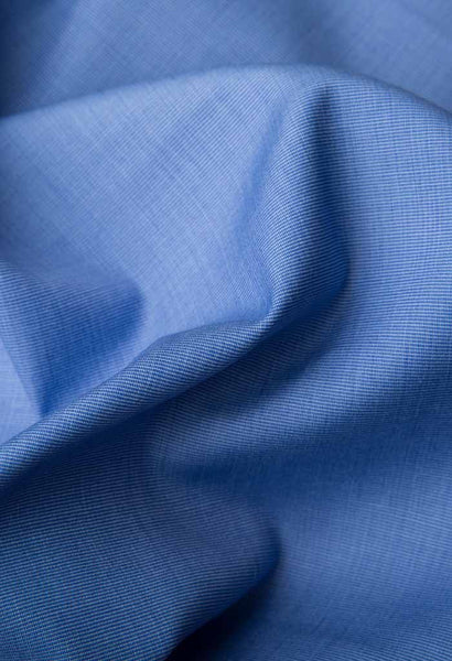 Saane Blue Shirt Artigiano Fabric Folded