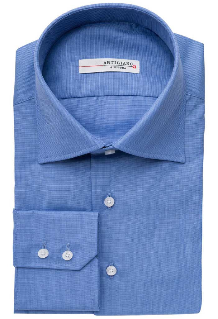 Saane Blue Shirt Artigiano Folded