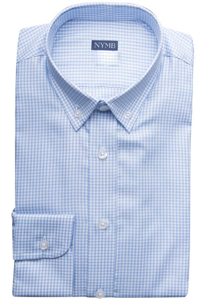 Sullivan Blue Check Shirt NYMB Folded