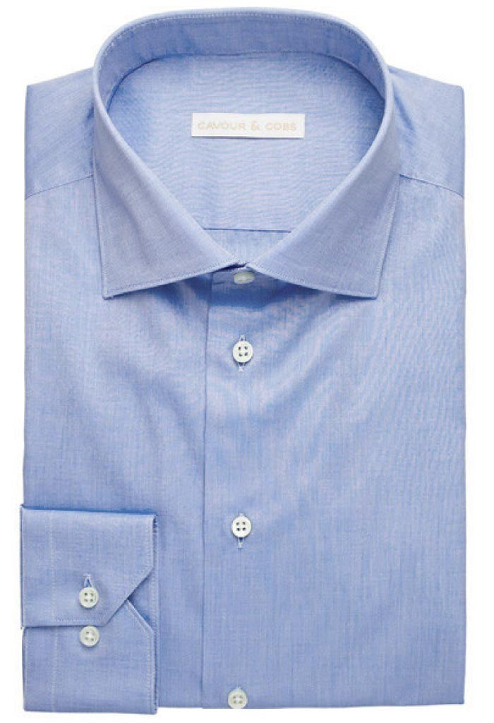 Varese Blue Shirt Cavour & Cobs Folded
