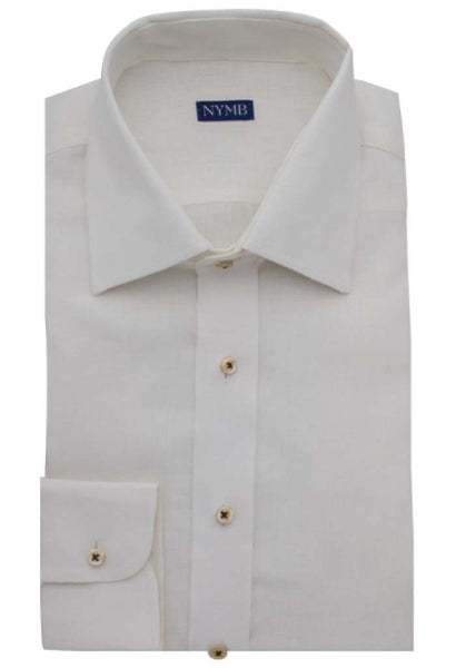 Augustus Off-White Linen Shirt NYMB Folded