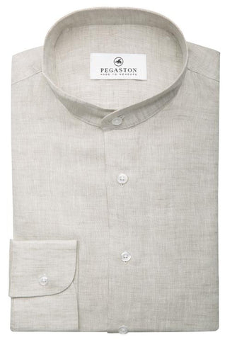 Ray Beige Linen Shirt Pegaston