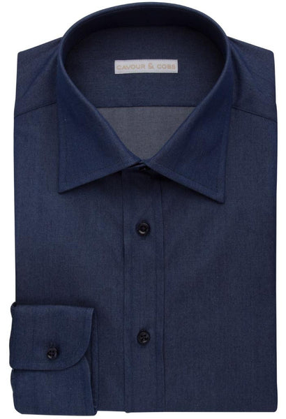 Capellini Navy Shirt Cavour & Cobs Folded