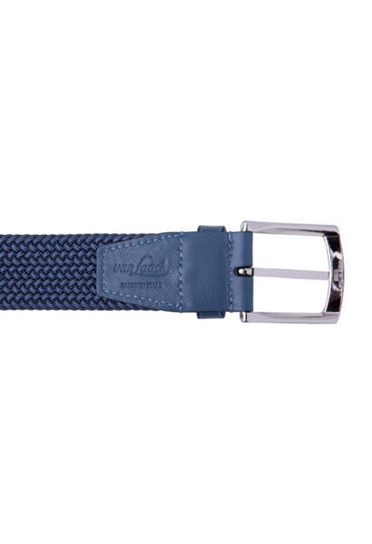 Van Laack Navy Woven Belt Buckle rear