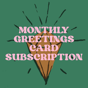Monthly Greetings Card Subscription - Dark Peak Press