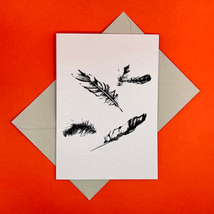 Open image in slideshow, Dark Peak Press - Falling Feathers - greetings card