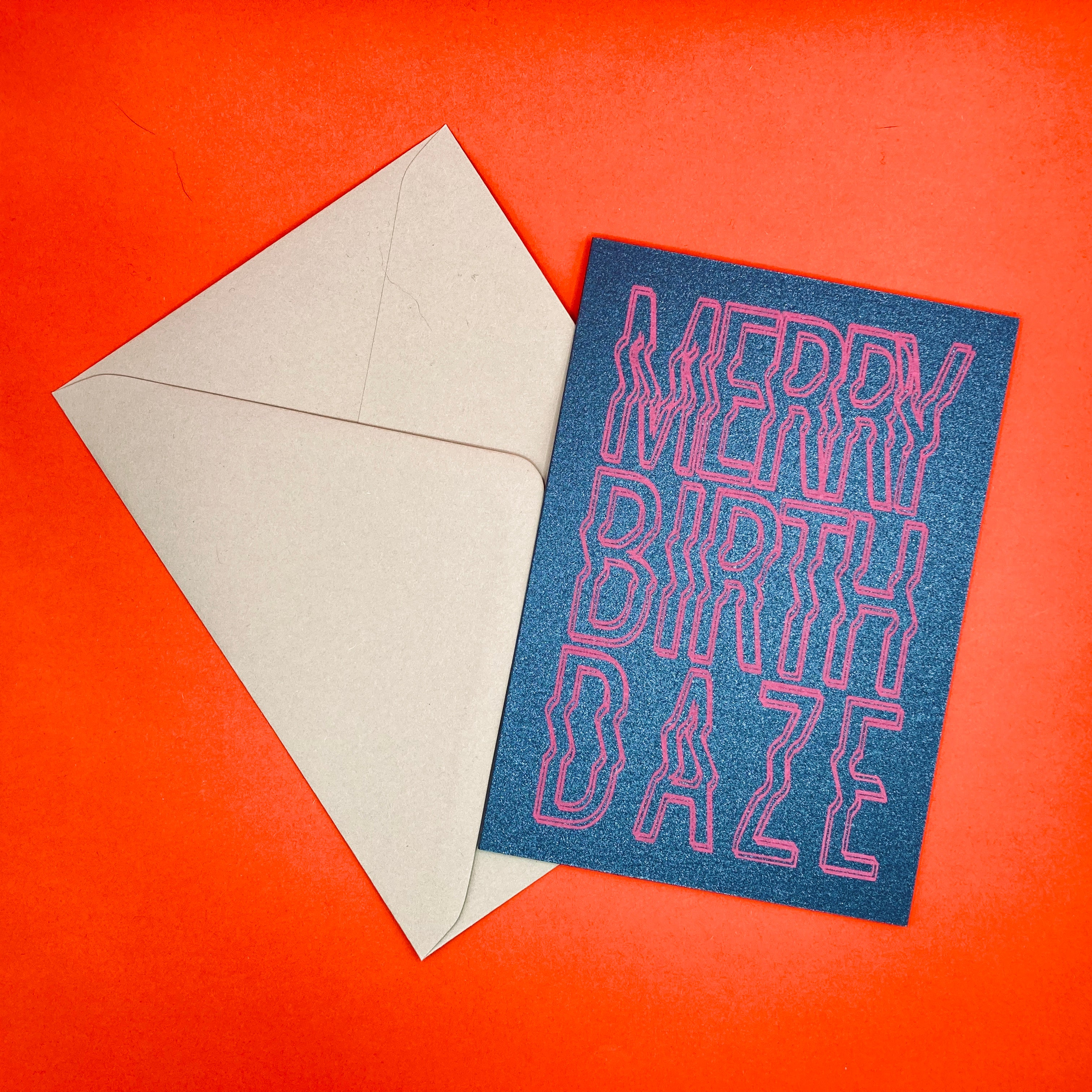 Dark PEak Press - Merry Birth Daze - greetings card