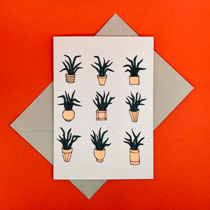 Dark Peak Press - Plants - greetings card