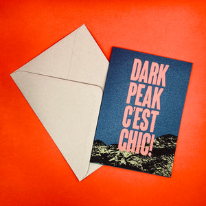 Dark Peak Press - Dark Peak C'est Chic - greetings card