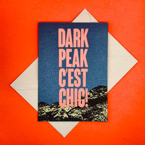 Open image in slideshow, Dark Peak Press - Dark Peak C'est Chic - greetings card
