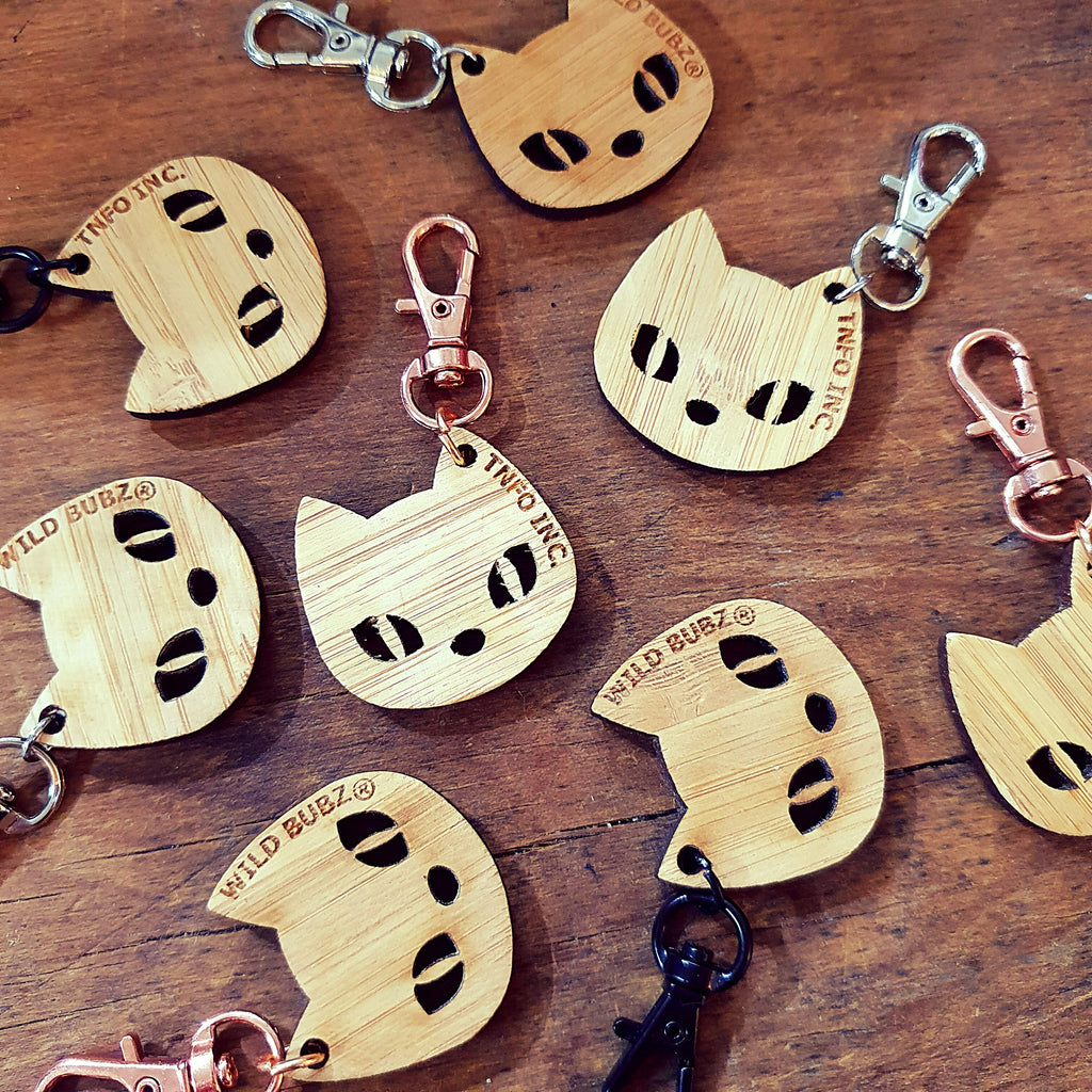 WILD BUBZ® CAT HEAD CHARITY KEYRING