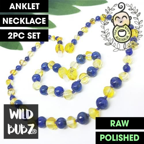 WILD BUBZ® Lapis Lazuli & Lemon Blue Gemstone Bliss Baltic Amber Max ★★★★★