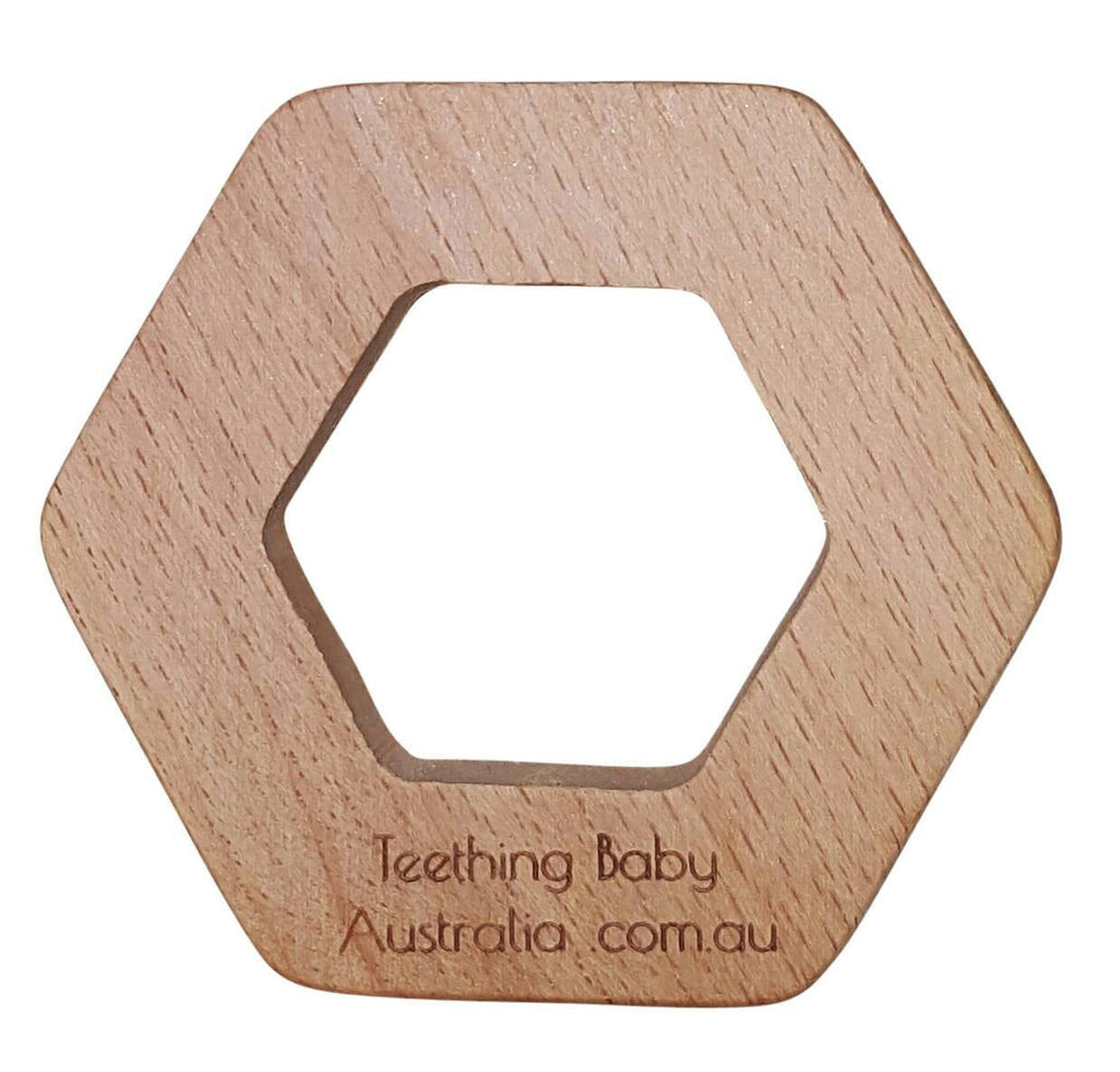 WILD BUBZ® Nature Geo Beech Wooden Teether ★★★★★