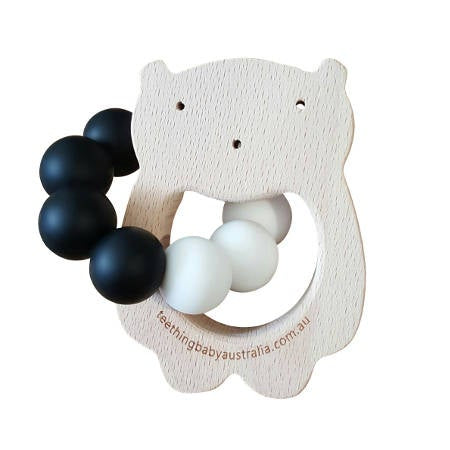 WILD BUBZ® Custom Monochrome Wood Shape Teether ★★★★★