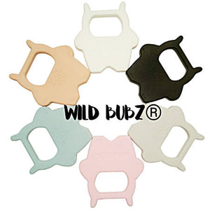 WILD BUBZ® ✔ Chill & Chew Freezer Safe ✔ Silicone Wild One Teether Toy 10 x pieces ★★★★★