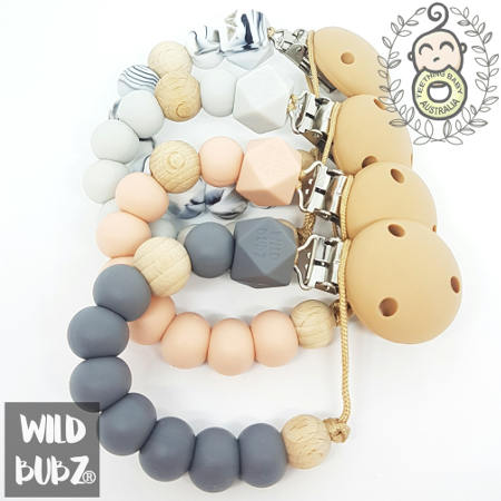 WILD BUBZ® Nature Pops Silicone Dummy Clips ★★★★★