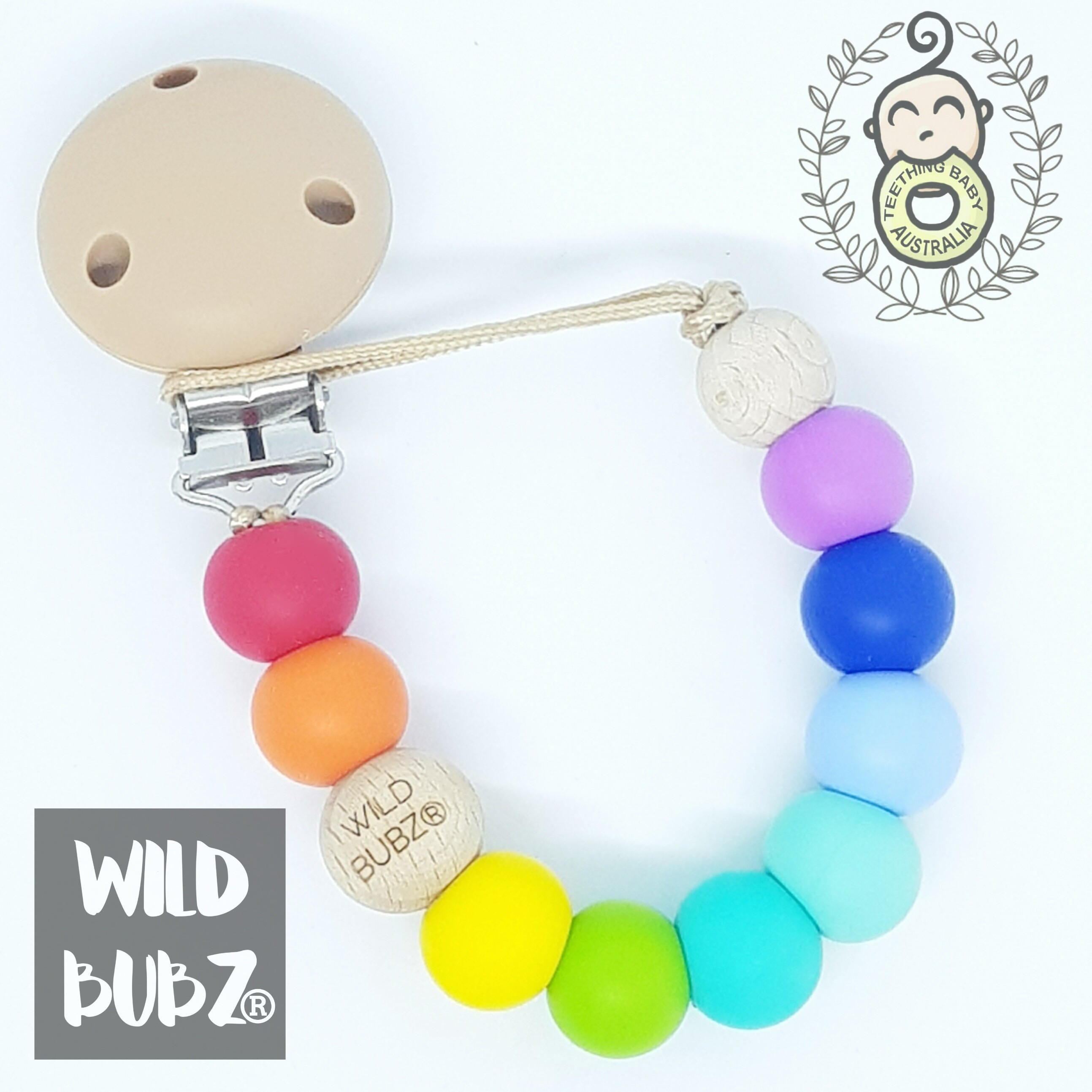 WILD BUBZ® Bright Rainbow Dummy Clips ★★★★★