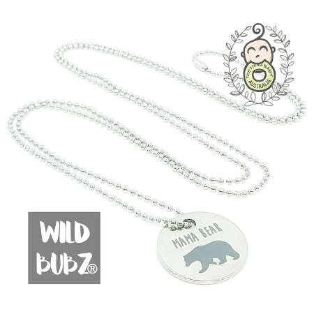 WILD BUBZ® Muma Bear Stainless Steel Necklace ★★★★★