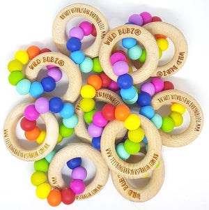 WILD BUBZ® Iconic Bright Rainbow Teether Toy ★★★★★