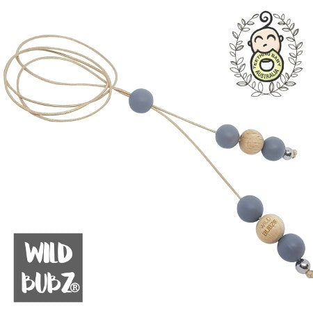 WILD BUBZ® Icon Drop Silicone Beech & Stainless Necklace ★★★★★