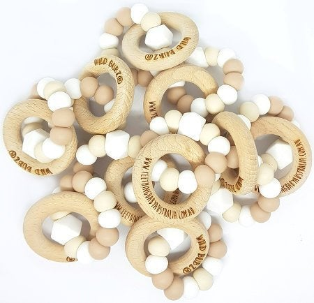 WILD BUBZ® Nature Neutrals Teething Rings ★★★★★