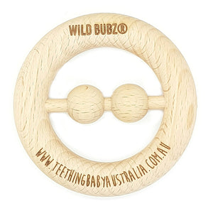 WILD BUBZ® Nature Beech Ring Rattle Teething Toy ★★★★★