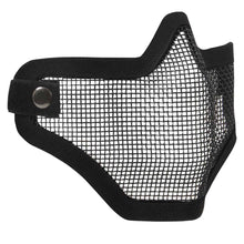 Load image into Gallery viewer, Carbon Steel Half Face Mask - Black