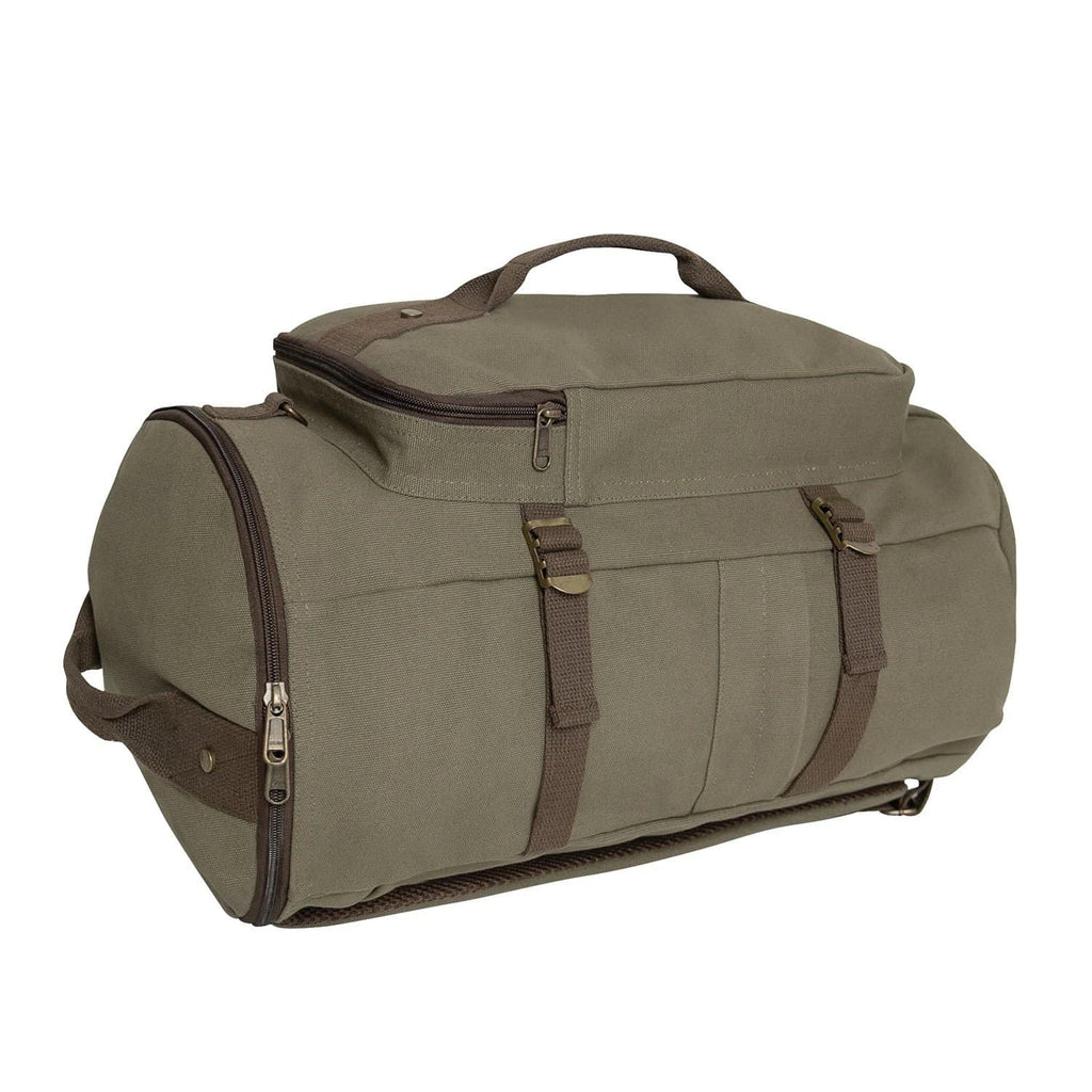 "Convertible 19"" Canvas Duffle / Backpack"