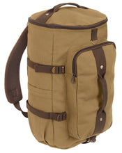 "Load image into Gallery viewer, Convertible 19"" Canvas Duffle / Backpack"