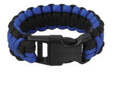 Load image into Gallery viewer, Deluxe Thin Blue Line Paracord Bracelet