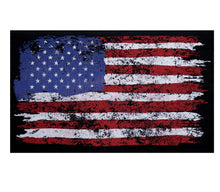 Load image into Gallery viewer, Distressed U.S. Flag Canvas Messenger Bag