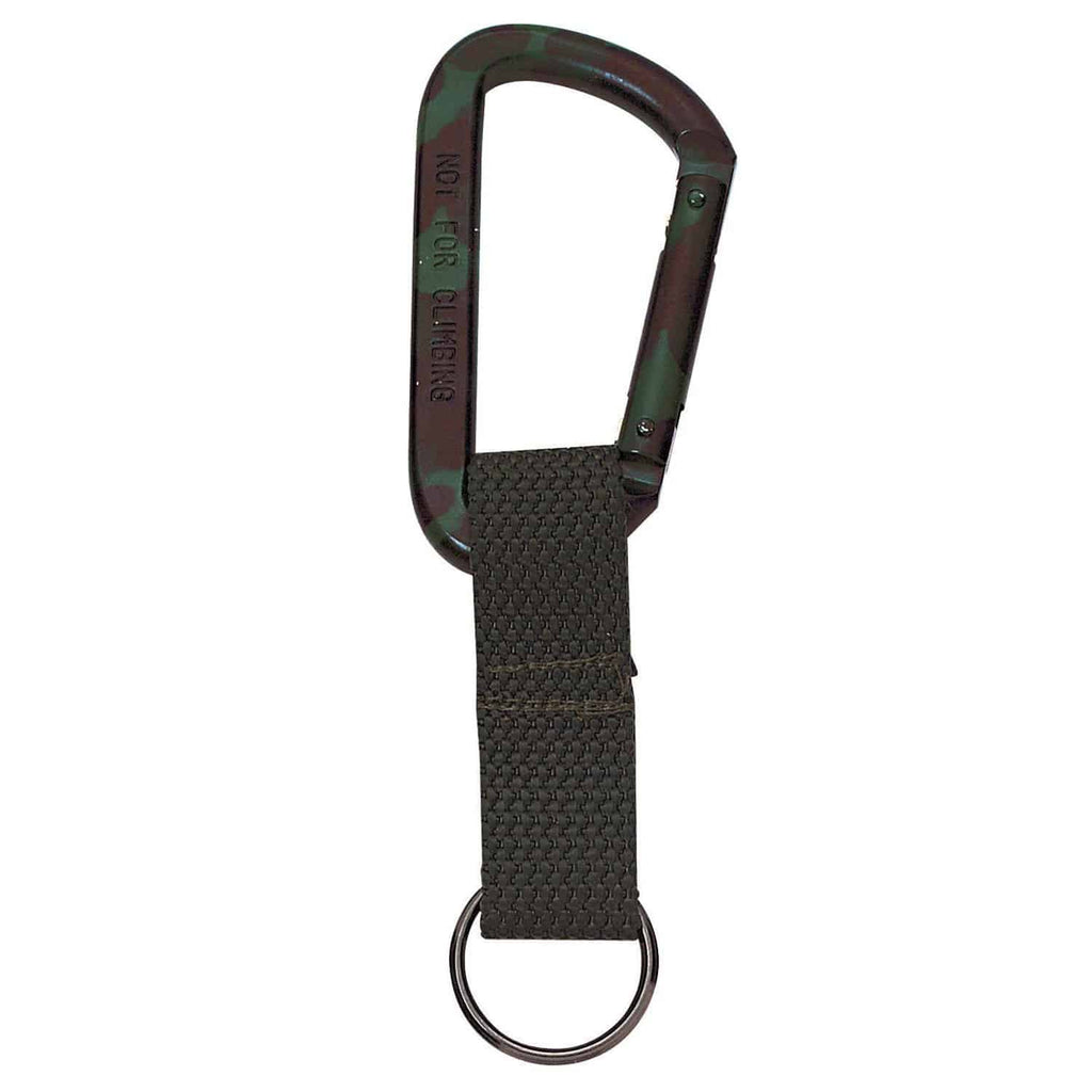 Jumbo 80MM Carabiner With Web Strap Key Ring