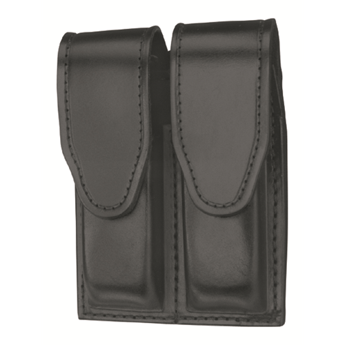Leather Hidden Snap Double Magazine Case
