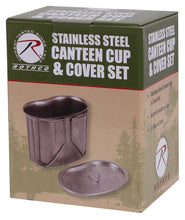 Load image into Gallery viewer, Stainless Steel Canteen Cup and Cover Set