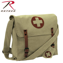 Load image into Gallery viewer, Vintage Medic Canvas Bag With Cross