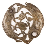 Haitian Steel Drum Art Fish Lid