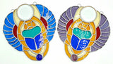 Stained Glass Scarab
