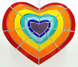 Radiant Heart Stained Glass