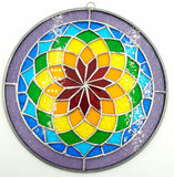 Stained Glass Rainbow Mandala