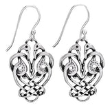 Earrings - Celtic Flamingos