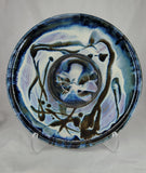 Liscom Hill Pottery - Black and Blue Chip and Dip