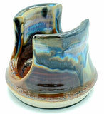 Liscom Hill Pottery - Black and Blue Landscape Sponge Holder