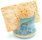 Liscom Hill Pottery - Seafoam and Teal Sponge Holder