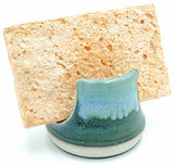 Liscom Hill Pottery - Seafoam and Green Sponge Holder