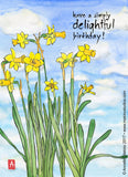 Makino Studios Card - Daffodil Birthday