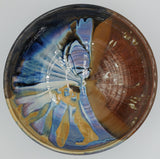 Liscom Hill Pottery - Black and Blue Landscape Serving Bowl
